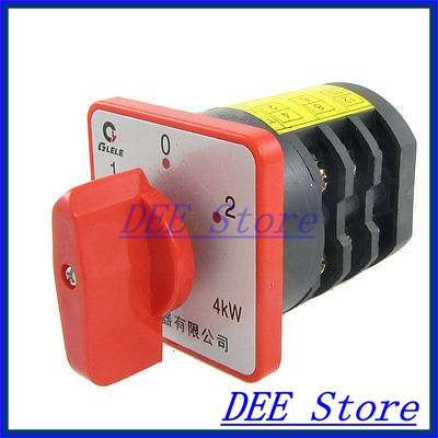 AC 380V 20A Amps ON/OFF/ON Rotary Cam Universal Changeover Switch<br><br>Aliexpress