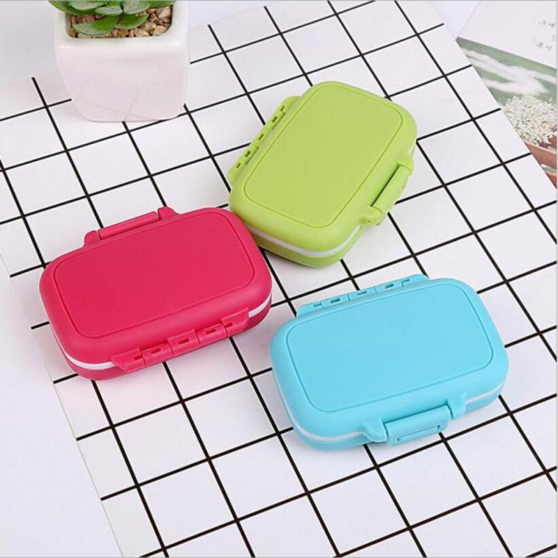 1 PCS High Quality Mini Pill Box Easy Taken Home Pill Case Storage 9*9*2.5cm L50(China (Mainland))