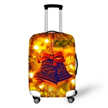 FORUDESIGNS Amazing Design Christmas Trees Pattern Printing Cover Apply To 18--28 Inch Suitcase Can be Custom Luggage Cover