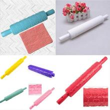Good sale 1Piece Rolling Pin Daisy Different Patterns Baking Tools Fondant Embossed Mold Cake Decorating