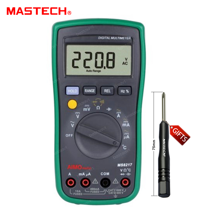 MASTECH MS8217 Digital Multimeter Meter AC/DC Voltage AC/DC Current Resistance Capacitance Tester with Temperature Measurement<br><br>Aliexpress