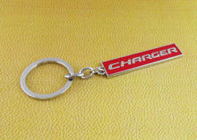 Auto Car Chrome Red Charger Emblem Key Chain Key Ring Keychain keyrings Fit for Dodge