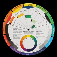 Useful Artists Colour Card Wheel Swatches Mixing Colour Guide 210mm Diameter Makeup Micro Pigment Ink Color Wheel Art Tool(China)