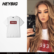 1993 Youth T-shirt Men women Street fashion Tee shirt 2017 summer cotton soft short sleeve clothes Asian size batch Custom