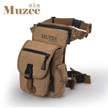 New Muzee Brand canvas Waist Bag men's messenger bags  vintage men bag travel belt wallets,free shipping