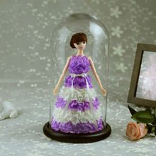 Special Barbie Preserved Carnation Flower Wedding Anniversary Christmas Birthday Valentine Present Venue Decoration(China)