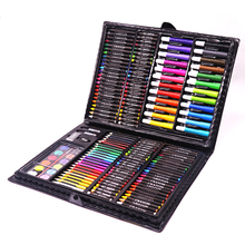 Brelar 168 Pieces/Set Art Painting Sets For Kids Children Drawing Set Water Color Pen Crayon Drawing Tool for Beginners(China)