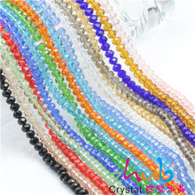 Glass Crystal Beads 2MM(200pcs/lot)White Color to Choose Rondelle Round Spacer Beads Glass Crystal Round Bead For Jewelry Making(China)