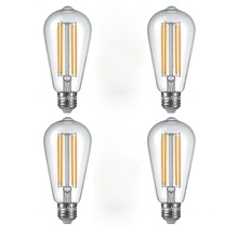 4PCS/LOT Uncleahtoh Warm White Light Bulbs Vintage Edision Style Retro E27 Scew Cap LED Filament Glass Antique Lamp(China)