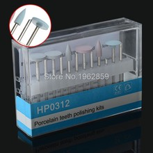 12pcs/set Dental equipment Products Teeth Polishing Kits Products HP0312 Used for Low-Speed Handpiece Bur Suit Bistrique