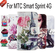 Smart Sprint 4G MTC Case Fashion Wallet Protective Cover Skin PU Flip Hot Leather Case For MTC Smart Sprint 4G High Quality