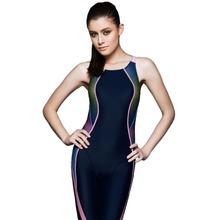 Women's Open Back Full Body Short Leg Kneeskin Tech Suit Racing Competition Swimsuit Swimwear