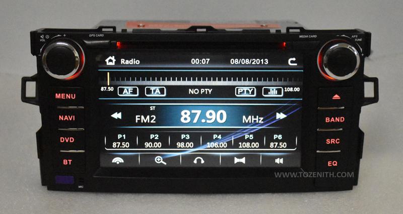 toyota auris corolla hatchback android car dvd radio 2 din 2gb ram (5)
