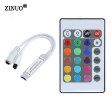 ZINUO DC12V 24Key RGB Controller IR Remote Controller With Mini Receiver For 3528/5050 RGB LED Strip Light /Led Tape Controller