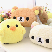 candice guo cute animal Rilakkuma bear chicken chick plush toy nap pillow intimate soft hand warmer girlfriend birthday gift 1pc(China)