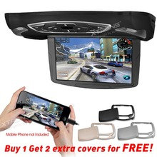 "XTRONS 10"" HD Digital TFT Monitor Car MPV Roof Flip Down DVD Player Overhead Stereo Built-in USB Game Disc HDMI SD USB Slot"