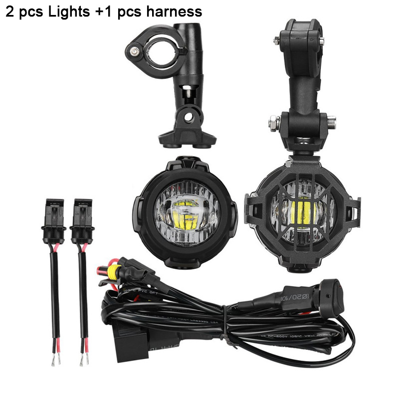 1 1 set 40W Motorcycle LED Auxiliary Fog Light Spot Driving Lamps For MW R1200GSADVF800GSF700GSF650FS (19) 1