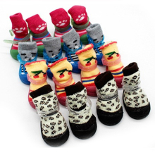 Pet Dog Cute Soles Waterproof Non slip Footwear Pet Dogs Warm  Comfortable  Socks Dog Pet Sock Shoes Color Randomly