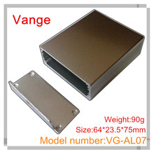2pcs/lot injected mold made 6063-T5 aluminum enclosure diy boxes 64*23.5*75(110)mm for wifi equipment