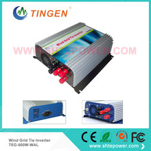 3 phase AC ac input 22-60v pure sine wave windmill grid tie micro inverter wind turbine generator 500w ac output