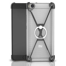 Metal Frame Ring Bumper For Xiaomi mi5 mi5s mi 5 5S Plus Redmi Note 4 Case Luxury Stand Cover Shockproof Aluminum Armor Shell