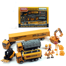2017 latest children's toys alloy car model toy car gift, simulation engineering Toys excavator