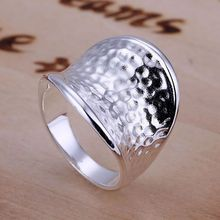 R065 Beautiful Wholesale Silver Plated Rings For Women&men Silver Fine Fashion 925 Jewelry Thumb Ring /aduaivba asiajjpa