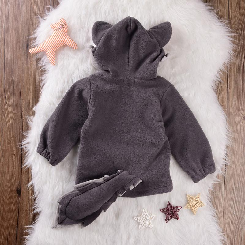 2019 Autumn Cute Baby Kids Toddlers Small Fox Tops Clothes Hoodie