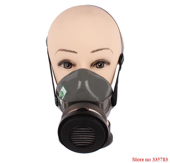 New Single canister dust respirator mask Self-priming Filter gas Mask Industrial Paint Masks Chemical Gas Filter Paint Safety<br><br>Aliexpress
