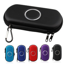 With Carabiner Hard Carry Zipper Case Bag Game Pouch For Sony PSP 1000/2000/3000 With 2 Memory Stick Mini Storage Pocket Bag