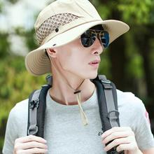Men Mesh Breathable Shade Fisherman Hat Women Summer Beach Suncap Casual(China)
