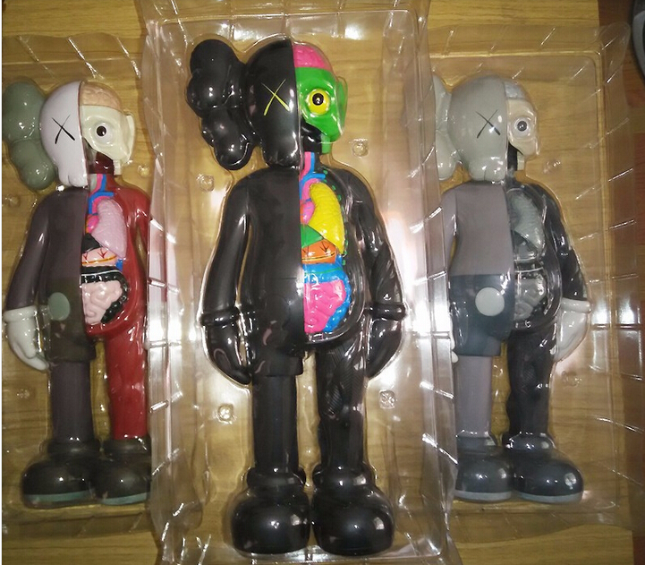 16 Originalfake KAWS Dissected Figure Kaws Toys Kaws Original Fake With Red Color Original Box<br>