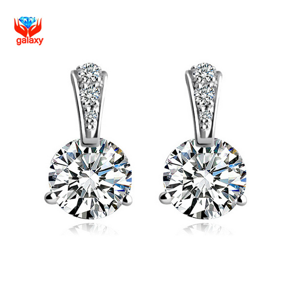 diamond earrings hqdefault kt stud white carat watch youtube each gold