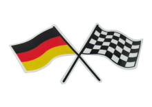 New film Auto car Germany German Checkred Flag Emblem Badge Sticker(China)