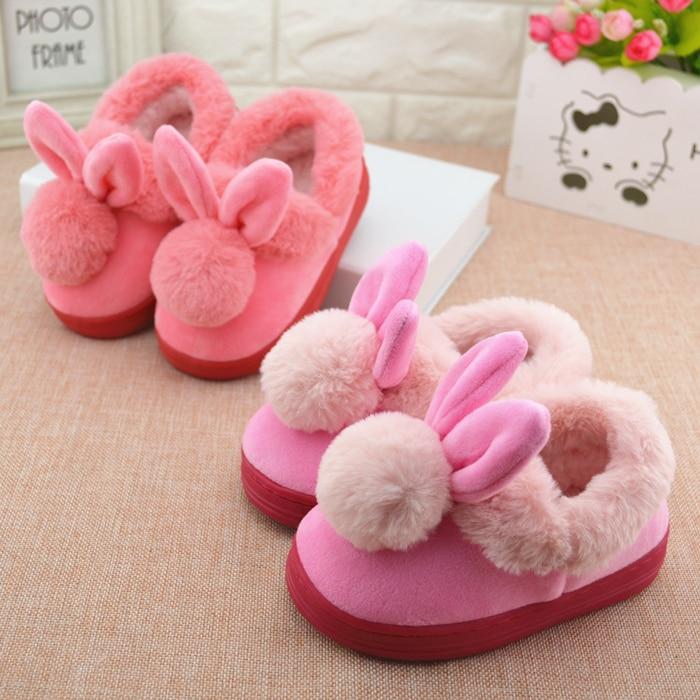 Winter Children 'S Cotton Slipper Shoes Boys/Girls Indoor Slipper Fashion Plush Warming Home Shoe Kids Baby Velvet Shoes