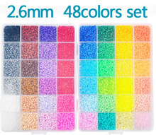 New Perler Beads 2.6mm 48 colors 26,000 pcs with Storage Box DIY gift hama beads craft wholesale learning & toy kids toys