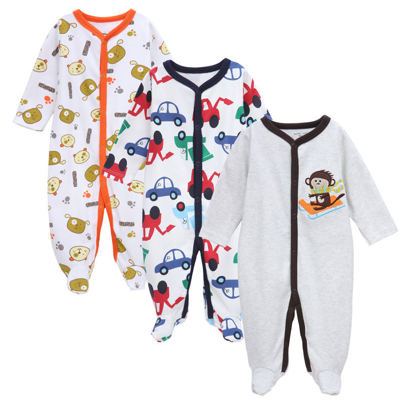 Mother Nest 3pcs/lot Baby Boy Clothes pirnt cartoon cute monkey Baby Rompers Winter Clothes Newborn Baby Clothes for 0-12 month<br><br>Aliexpress