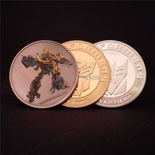 3 pcs/lot Mix Hollywood movie The Avenger Iron Man Challenger & Transformer gold adn silver plated souvenir Coin gift free ship