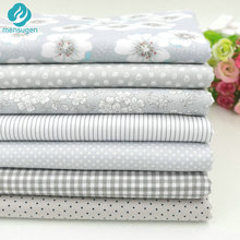 2016 New 7pcs 40x50cm Gery Cotton Fabric for Patchwork Quilts Cushions Patchwork Telas Sewing Tissue DIY Crafts Tilda Cloth(China)