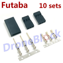 10 Sets Servo Plug Futaba Plug Connector for RC Multirotor Quadcopter Helicopter Airplane Car(China)