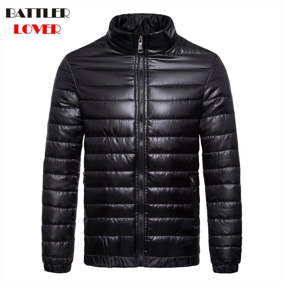 2018 Winter Men UltraLight Down Jacket 90% White Duck Down Jackets Thick Warm Slim Parkas Hombre Male Portabl Outwear Clothing