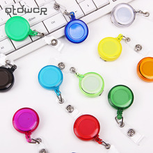 3PCS/lot 13 Colors Office School Supplies Badge Holder Retractable Ski Pass ID Card Badge Name Tag Holders Anti Lost Clip(China)