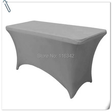 Big Discount & Hot Sale !!!!  10pcs  Spandex 6ft Table Cover - Grey  30'heght(180*60*75cm) Free Shipping