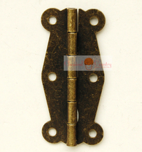 "10pcs of 2"" Antique Hinges for Cabinet Trunk Jewelry Box Storage box Furniture Hardware Hinges Imitation Bronze"