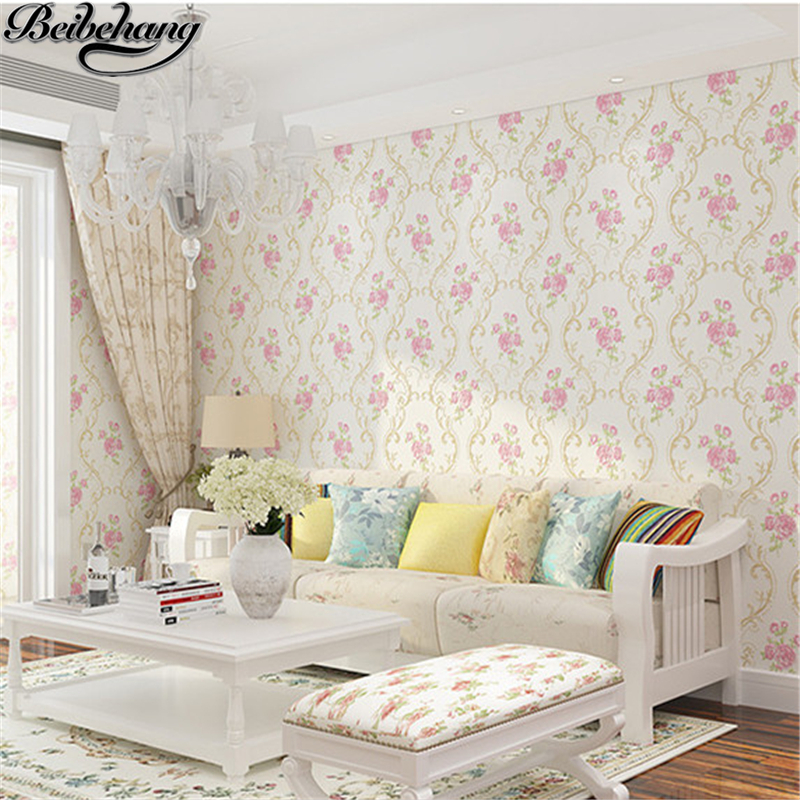 beibehang Precision Crafts European Wallpapers Strict Nonwovens Wallpapers Jane Europe Bedroom Living Room Pastoral Wallpapers<br>