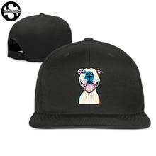 562f0278985 SAMCUSTOM cap baseball cap Side 3D printing pit bull Casual cap gorras hip  hop snapback hats