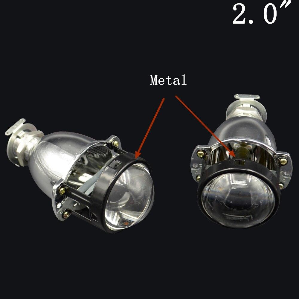 2pcs 2.0 inch car Bi xenon Bixenon Projector lens  H1 H4 H7 hid xenon kit headlight car headlight <br>