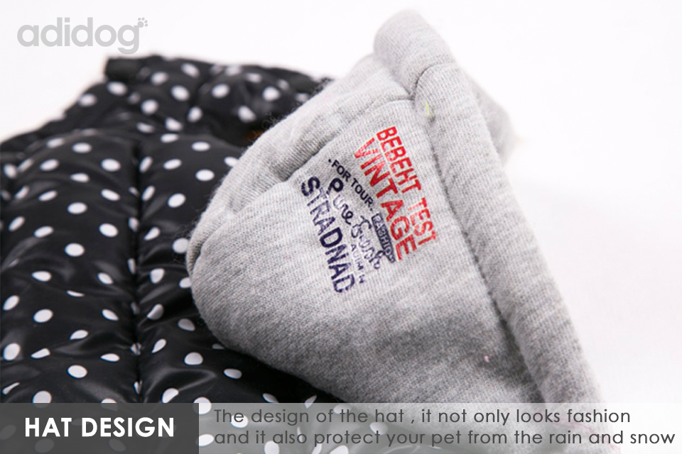 Hot Sales Pet Dog Jacket Coat Winter Clothe Waterproof Warm Fashion Hat for Small Medium Pet S -XXL White Black Yellow 2
