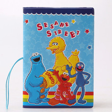 3D stereo  Sesame Street  pattern passport cover passport holder documents  card sets - essential travel abroad
