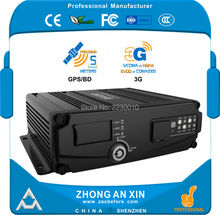 4 Channel GPS 3G EVDO real time Full HD 720P AHD Dual SD Card Vehicle Mini Mobile DVR Car MDVR(China)